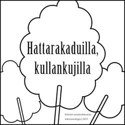 Hattarakaduilla, kullankujilla (2017) -kansikuva