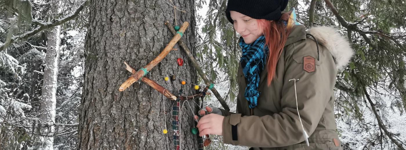 Talvinen taidepolku tuo iloa ja ihmetystä Varjakkaan